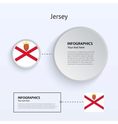 Jersey country set of banners vector