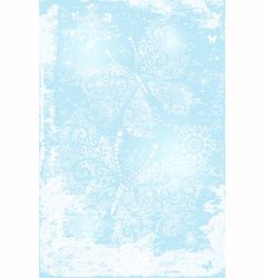 Gentle blue christmas frame vector