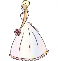 Bride blonde vector