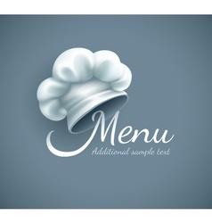 Menu logo with chef cap vector image
