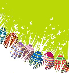 Easter egg green spring background vector