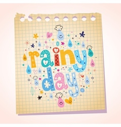 Rainy day notepad paper cartoon vector