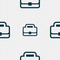 Briefcase icon sign seamless pattern with vector