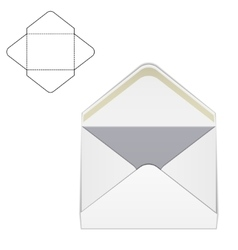 Envelope fold template 1 vector image