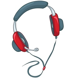 Cartoons headphone vector