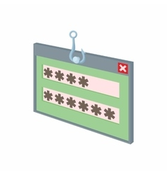 Internet phishing hacking login and password icon vector