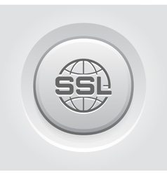 Global SSL Security Icon Flat Design vector image