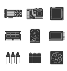Electronic parts icons vector