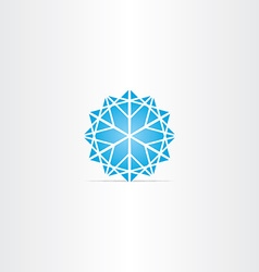 abstract blue star snowflake symbol vector image
