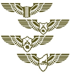 Abstract military badges vector image