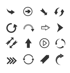 Arrow signs icons vector image