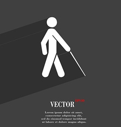 Blind icon symbol flat modern web design with long vector
