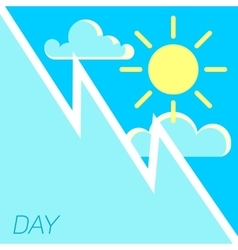 Blue sky and sun day concept vector