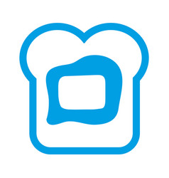 bread with butter icon vector image vector image