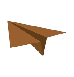 brown paper plane project start up vector image