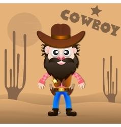 Cheerful cowboy vector image vector image