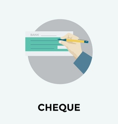 Cheque icon vector