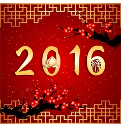 Chinese new year the year of monkey background vector