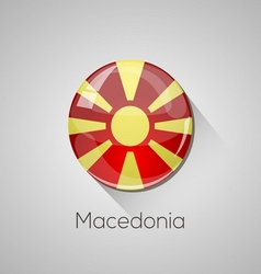 European flags set - macedonia vector