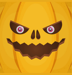 Evil pumkin background vector