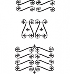 filigree scrolls vector image vector image