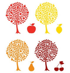 fruit tree vector image vector image