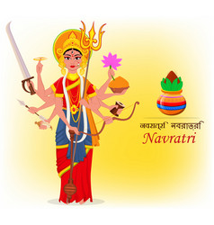Happy chaitra navratri or vasanta navratri vector