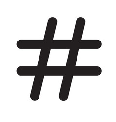 hashtags icon on white background hashtags icon vector image