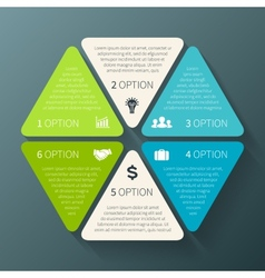 Hexagon infographic template for diagram graph vector