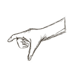 Human hand gesture finger sketch icon vector