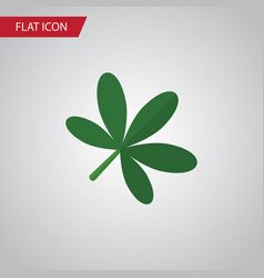 isolated oaken flat icon maple element can vector image