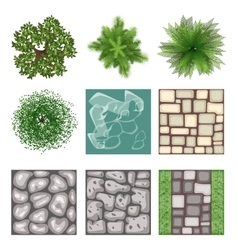 Landscape design top view elements vector image vector image