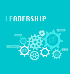 Leadership graphic for business concept vector