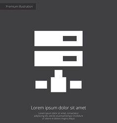 Net drive premium icon white on dark background vector