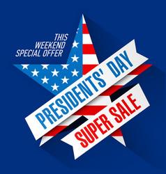 Presidents day super sale banner design template vector