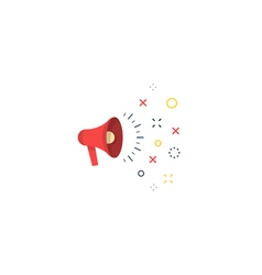 Public relation and speaking icon and logo vector