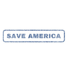 save america textile stamp vector image vector image