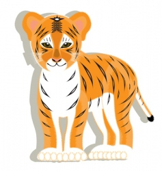small tiger vector image vector image