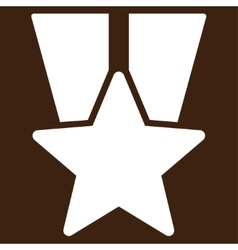 Star medal icon from competition success bicolor vector