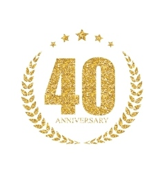 Template Logo 40 Years Anniversary vector image