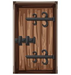 wooden door in medieval style vector image