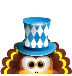 Funny turkey oktoberfest card design template vector