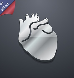 Human heart icon symbol 3d style trendy modern vector