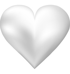 Pearl shaped heart vector