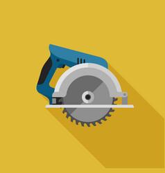 circular saw flat icon vector image