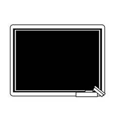 Chalk board with school supply icon image vector