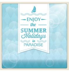 Summer holiday card design vector