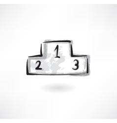 podium grunge icon vector image