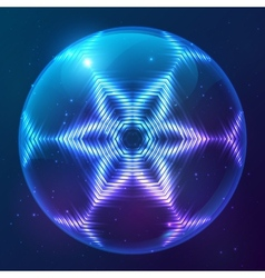 Cosmic shining abstract sphere vector