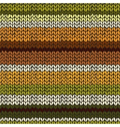 Seamless pattern with colorful knitted stripes vector